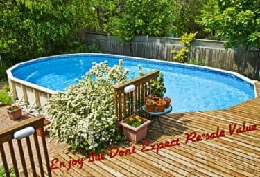 Above Ground Swimming Pool Hurts Resale