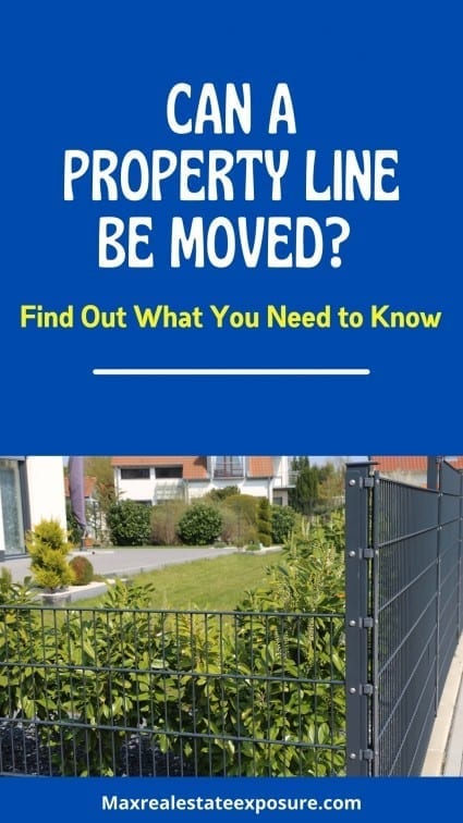 Can a Property Line Be Moved