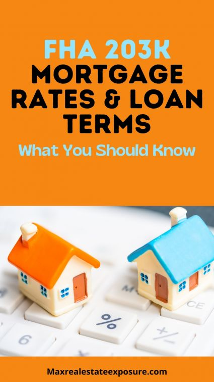 FHA 203K Mortgage Rates and Loan Terms