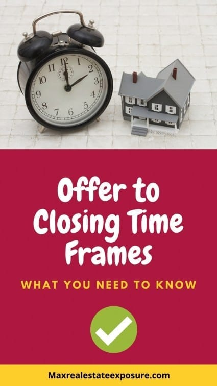 Offer to Closing Time Frames
