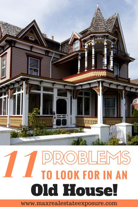 Problems to look for in an old house