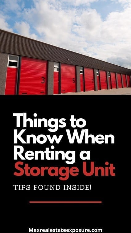 Things to Know When Renting a Storage Unit