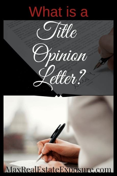 What Is A Title Opinion Letter