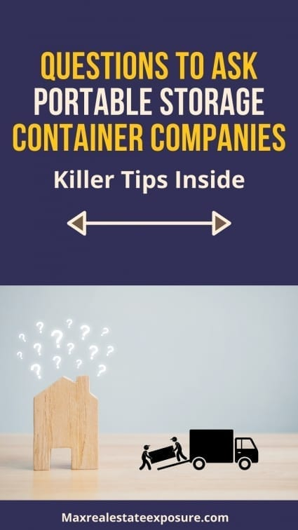 What to Ask Portable Storage Container Companies