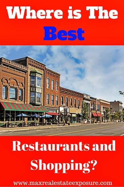 Where is The Best Restaurants and Shopping