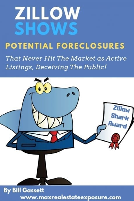 Zillow Shows Potential Foreclosures Not For Sale